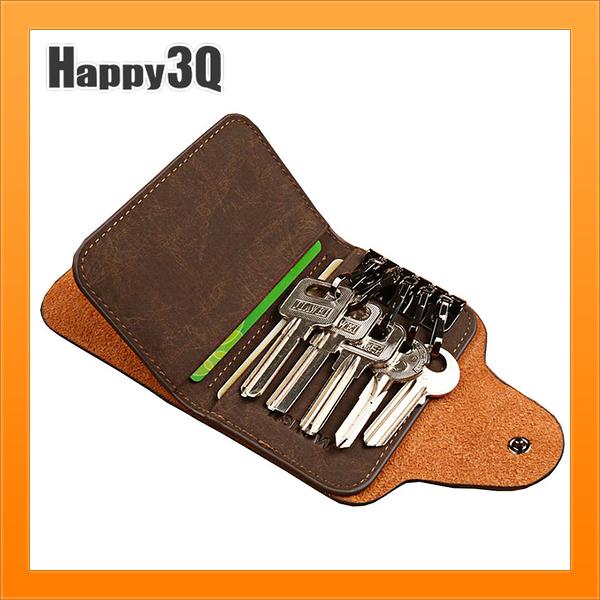個性鑰匙包簡約卡片悠遊卡收納坐車方便仿真皮個性卡夾卡片收納-多色【AAA4126】預購
