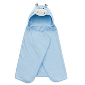 奇哥吸濕速乾造型浴袍巾/嬰兒浴巾 (河馬藍) 863元