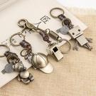 鑰匙錬掛件創意汽車圈環女士韓國可愛定制書包包包掛飾情侶鑰匙扣 小明同學