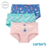 【美國 carter s】童話城堡3件組三角褲-台灣總代理