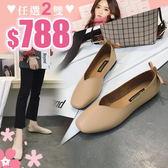 任選2雙788娃娃鞋日系簡約素面休閒百搭蝴蝶結裝飾娃娃鞋【02S9096】