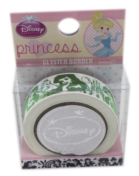 【卡漫城】 小美人魚 紙膠帶 綠 ㊣版 迪士尼 愛麗兒 公主 裝飾 包裝 膠帶式 筆記 貼紙 Ariel Mermaid