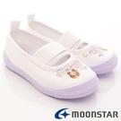 日本 MOONSTAR 兒童抗菌室內鞋/幼稚園-蘇菲雅紫(14cm-17cm)(日本進口)