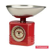 【TYPHOON】復古系列廚房磅秤2KG(紅)