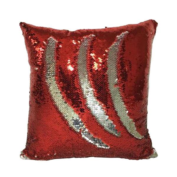 【快樂家】魔法DIY創意雙色亮片方型抱枕 (紫色+銀色)