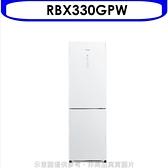 日立【RBX330GPW】313公升雙門(與RBX330同款)冰箱GPW琉璃白