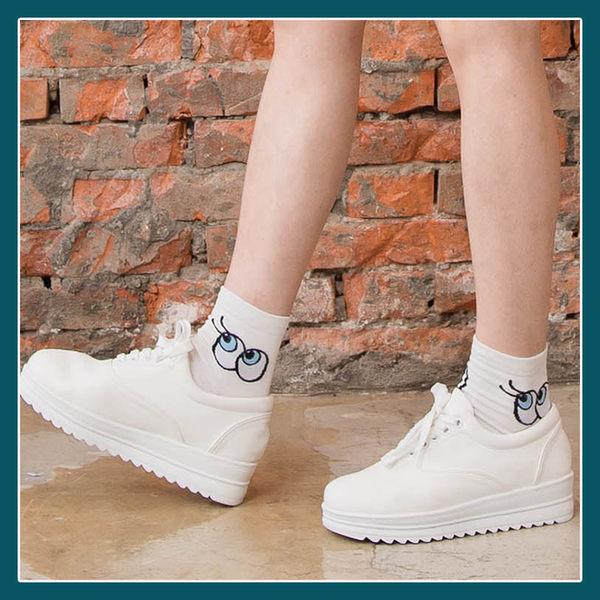 Melek 襪子類 (共2色)【P08160822-0114~15】女中筒襪眼睛款/長襪/襪子