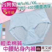 女性 MIT舒適棉質貼身女內褲 彈力佳 M/L/XL/XXL 台灣製 No.931(5件組)-席艾妮SHIANEY