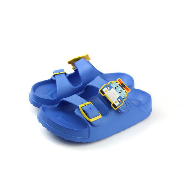 POLI 波力 救援小英雄 拖鞋式 涼鞋 雨天 防水 藍色 中童 POKS71046 no618