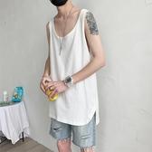 無袖t恤男個性百搭坎肩運動背心韓版潮流ins港風2020夏季外穿 貝芙莉