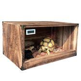 實木爬蟲箱組合式木箱玉米蛇飼養櫃陸龜保溫箱爬寵飼養箱木爬蟲盒 igo