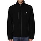 Nautica 男黑色輕巧彈力性能風衣和防雨外套