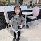 女童秋裝長袖洋裝2020新款兒童千鳥格花邊公主裙女寶寶洋氣裙子 艾瑞斯