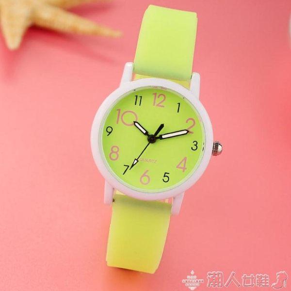 新品-手錶時尚潮流兒童手錶女孩學生可愛男孩中小學生考試電子夜光石英表 【时尚新品】