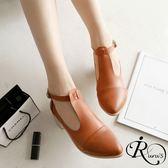 復古時尚素面扣環設計尖頭低跟鞋/4色/35-39碼 (RX0015-C86) iRurus 路絲時尚