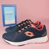 【iSport愛運動】LOTTO 急速輕量跑鞋 LT9AWR0116 女款 深藍x粉橘