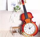 小提琴靜音掛鐘 壁鐘【藍星居家】...