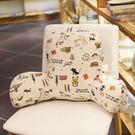 卡通可拆洗靠枕腰枕汽車辦公室靠墊  60X40CM(厚度約18cm )