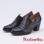itabella.個性-復古抓縐造型踝靴(9560-91黑色)