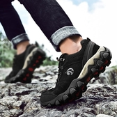 登山鞋皮鞋男真皮男鞋冬季戶外運動休閒旅游鞋子耐磨男士登山鞋聖誕交換禮物