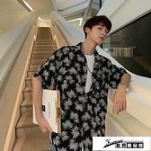 沙灘襯衫 MPMK日系夏季新款小翠花短袖襯衫男學生夏威夷沙灘寬鬆港風襯衣衫 酷男