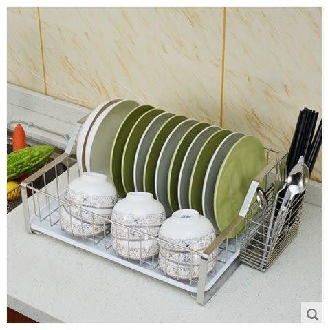 碗碟瀝水架  單層滴水碗架 304不鏽鋼【藍星居家】