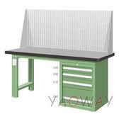 【耀偉】天鋼 單櫃型(天鋼桌板)工作桌WAS-67042TH2 (工作台,工業桌,機台桌)