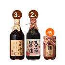 【豆油伯】缸底*3+春源*2醬油5入推薦組送辣豆瓣醬220g*1(巿價150)