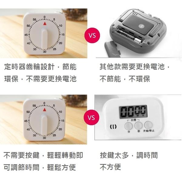 廚房方型機械定時器/計時器/提醒器【AE02675】聖誕節交換禮物 99生活百貨