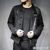 高品質男士夾克牛仔上衣服黑色外套潮 日系 702 優家小鋪