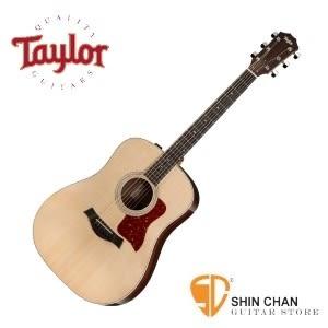 【210-e DLX/Taylor吉他/DN桶身】Taylor 210e DLX 單板 木吉他 / 電木吉他 / 可插電民謠吉他  墨廠  附硬盒