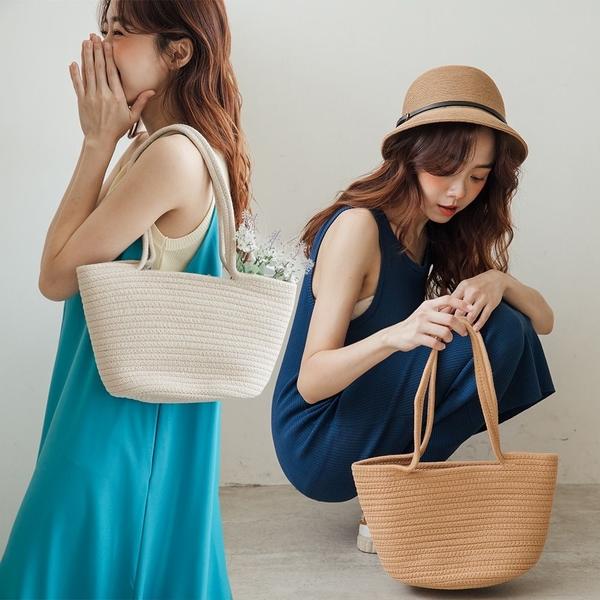 MIUSTAR 手提水桶針織編織包(共2色)【NJ1675】預購