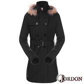 Jordon GORE-TEX 兩件式防風防水保暖長大衣 (內羽絨外套) 女 黑色 J1966