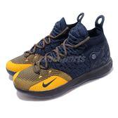 Nike 籃球鞋 Zoom KD11 GS Chinese Zodiac Michigan 藍 黃 11代 運動鞋 女鞋 大童鞋【PUMP306】 AH3465-400