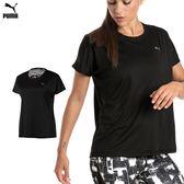 Puma Explosive Box 女 黑 運動上衣 短袖 排汗 吸水 透氣 彈性 短T 慢跑 健身 51675601