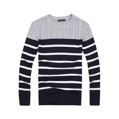 長袖針織衫-時尚流行橫線條男針織毛衣3色73ik55【時尚巴黎】