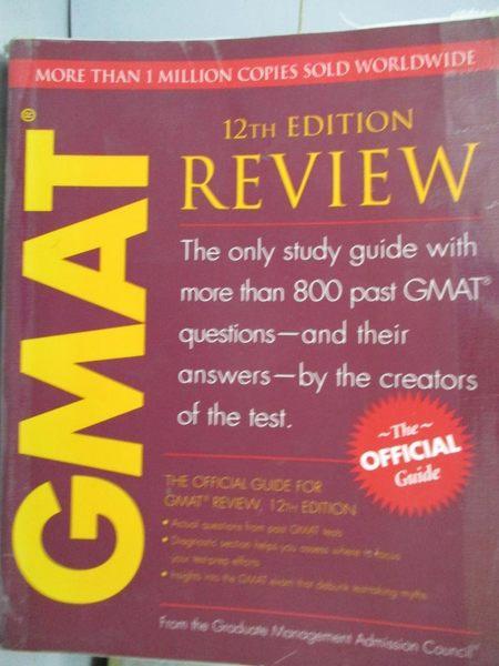 【書寶二手書T9/語言學習_QGG】GMAT Review_Graduate Management Admission