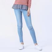 Victoria 中高腰天絲棉彈性刺繡9分褲-中藍-VW2308