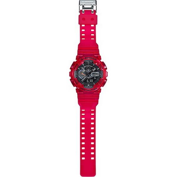 【台南 時代鐘錶 CASIO】卡西歐 G-SHOCK 宏崑公司貨 GA-110CR-4A 海洋生態保育概念雙顯錶款
