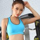 (藍S)(贈長褲)鏤空美背運動內衣女衣速乾工字美背運動內衣褲女衣