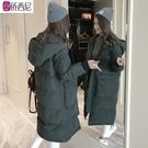 東大門羽絨棉衣服女中長款加厚棉襖2019新款韓版寬鬆學生冬季外套 ☸mousika