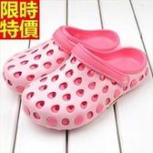 洞洞鞋-防滑鏤空可愛防水女果凍鞋4色67u48【巴黎精品】
