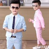 男童禮服 西裝套裝秋裝英倫兒童禮服花童小西服兩件套 BF11634『寶貝兒童裝』