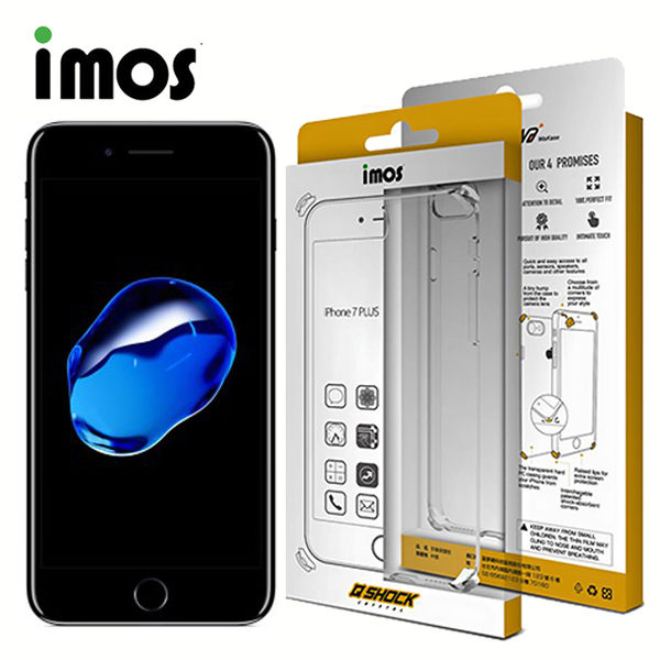 iMOS Apple iPhone 7 Q-SHOCK 防摔手機保護殼-透明