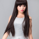高仿真耐熱超自然整頂假髮【MC083】長直髮平劉海長直髮☆雙兒網☆