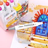 馬克筆-晨光文具MGKids水性軟頭雙頭馬克筆手繪繪畫套裝學生水彩筆 1 花間公主