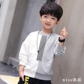 時尚男童T恤新款中大童打底衫兒童中大尺碼長袖上衣男孩帥氣潮衣 js9554『miss洛羽』