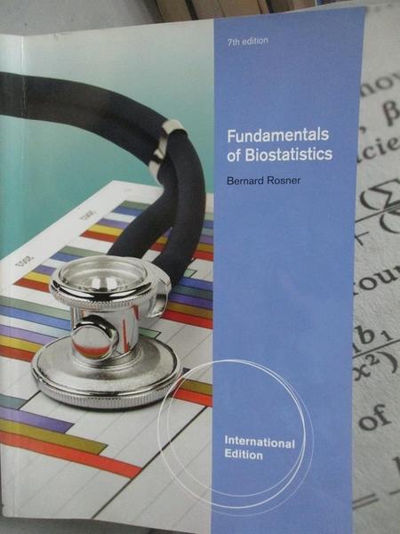 【書寶二手書T4/大學理工醫_XDF】Fundamentals of biostatistics_Bernard Ros
