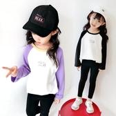 長袖T恤—女童長袖t恤秋裝新款上衣洋氣兒童時尚打底衫韓版中大童體恤