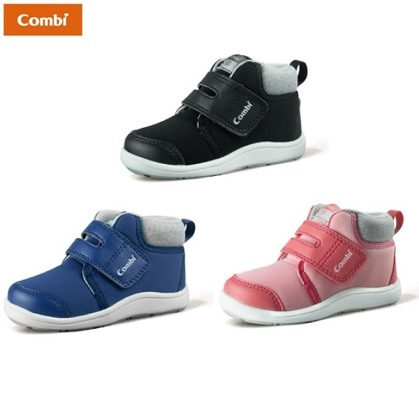 Combi 康貝 NICEWALK 醫學級成長機能鞋 B20-粉/黑/藍【佳兒園婦幼館】